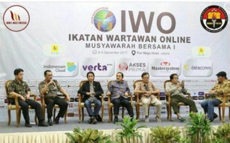 MUBES ke-I Ikatan Wartawan Online (IWO). Jakarta, 8-9 September 2017