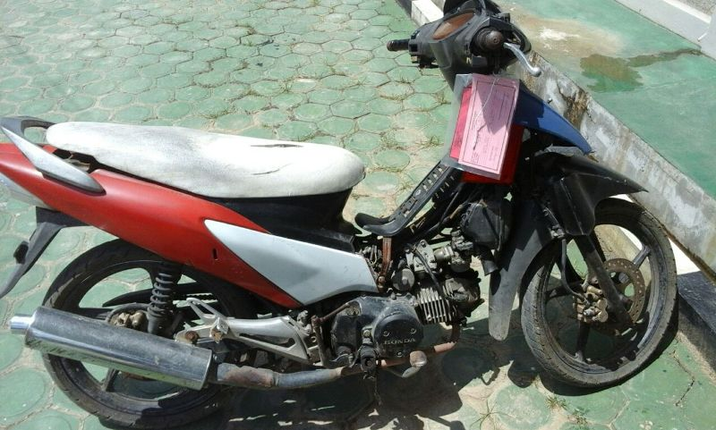 Motor korban yang diambil oleh pelaku