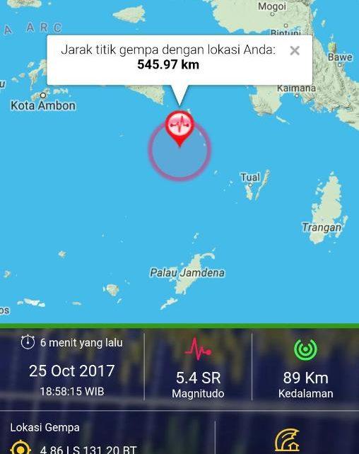 Gambar lokasi Gempa