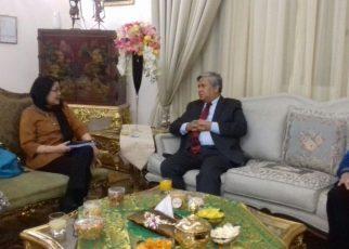 Dubes RI untuk Cairo, Mesir Hilmi Fauzi menerima kunjungan Dirjen PEN Kemendag Arlinda.