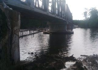 Kondisi Jembatan Jeflio penghubung Kabupaten Sorong dan Kampung Yeflio