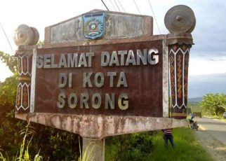 Tugu Selamat Datang di Kota Sorong