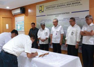 Penandatanganan Kontrak Pekerjaan Jalan dan Jembatan di Papua