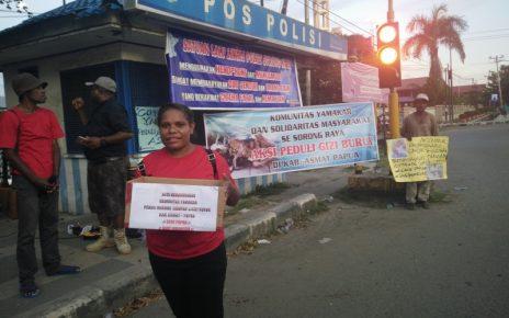 Komunitas Yamakar menggalang dana untuk penderita penyakit gizi buruk di Kabupaten Asmat