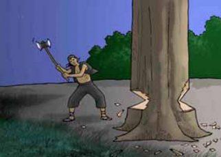 Ilustrasi Penebangan Pohon