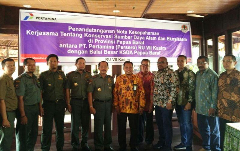 Foto bersama Balai Besar KSDA dan RU VII Pertamina