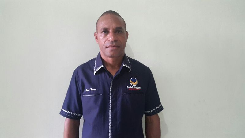 Agustinus Tenau, ketua DPD Partai NasDem Maybrat