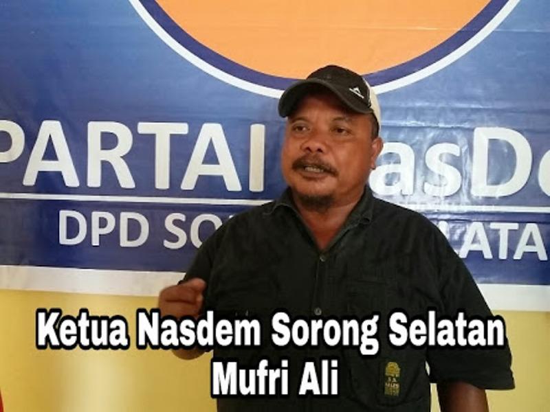 Mufri Ali, Ketua DPD Nasdem PB