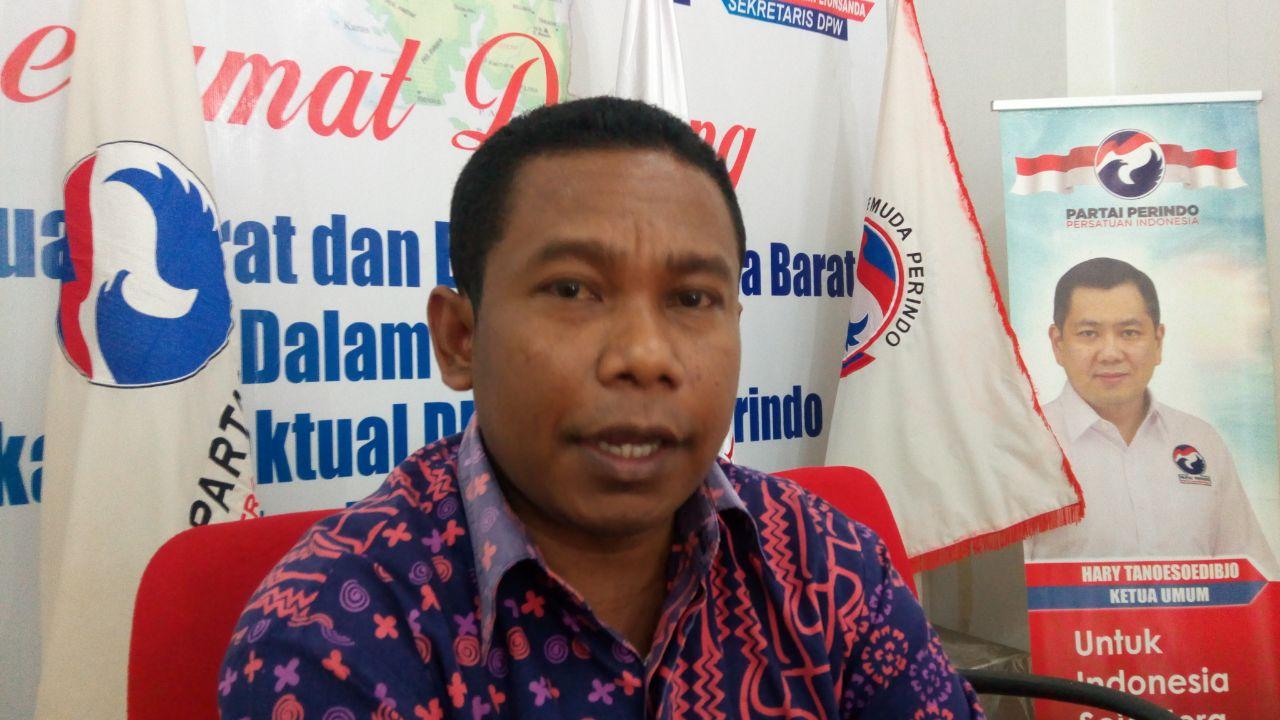 Ketua DPW Perindo Papua Barat, Marinus Bonep
