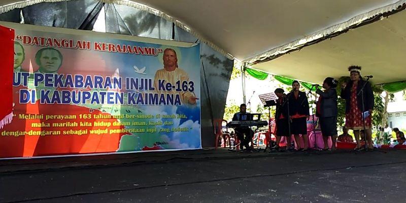 Perayaan HUT Pekabaran Injil di Kaimana