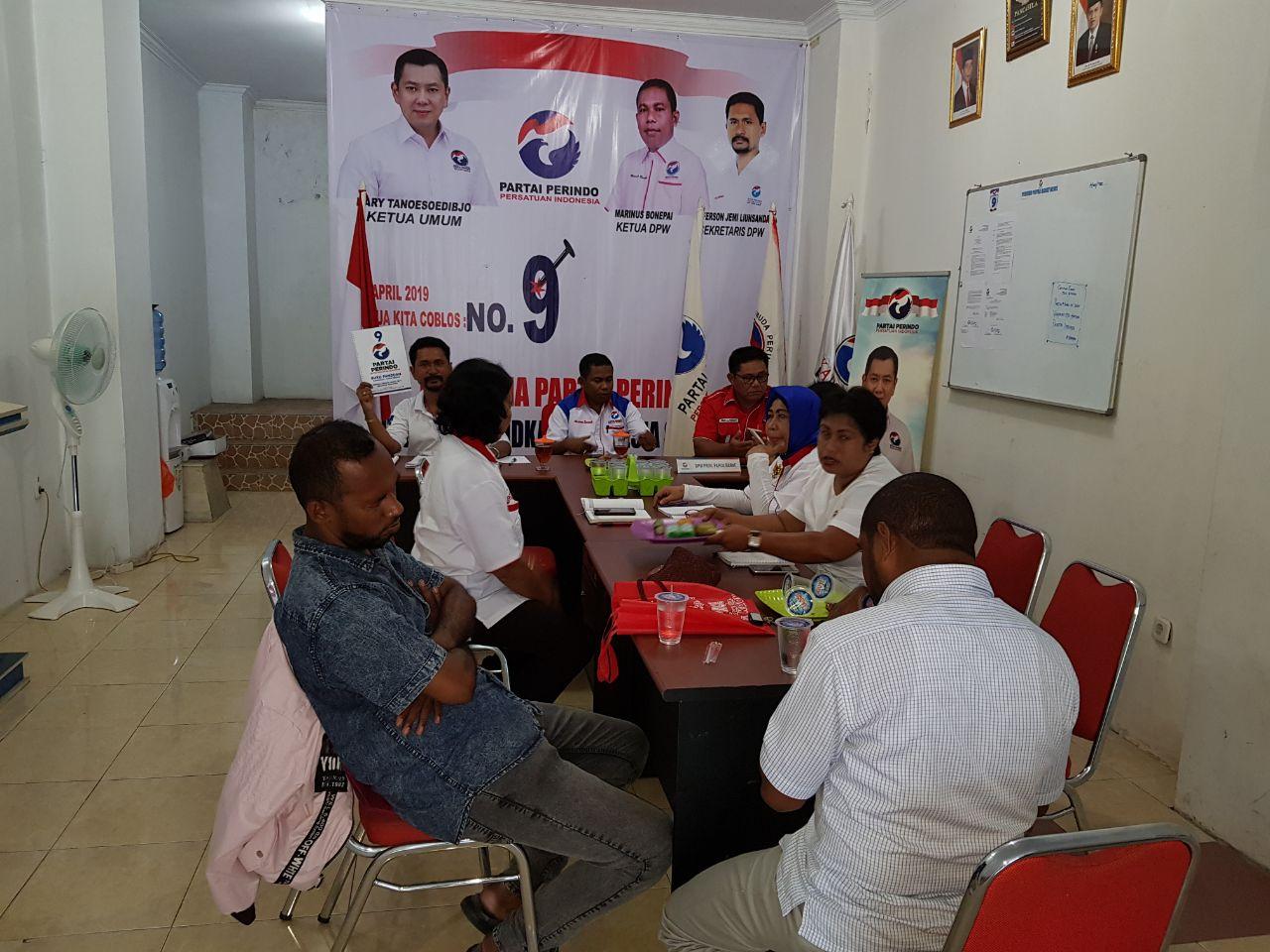 Rapat Terbatas Internal DPW Partai Perindo Papua Barat di Manokwari