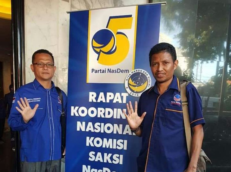 Ranley L Mansawan (ketua KSN PB) dan Syamsudin Seknun (Sek KSN PB)