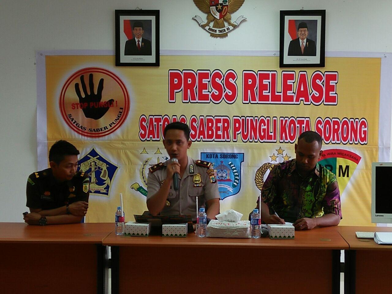Press Release Tim Satgas Saber Pungli Kota Sorong