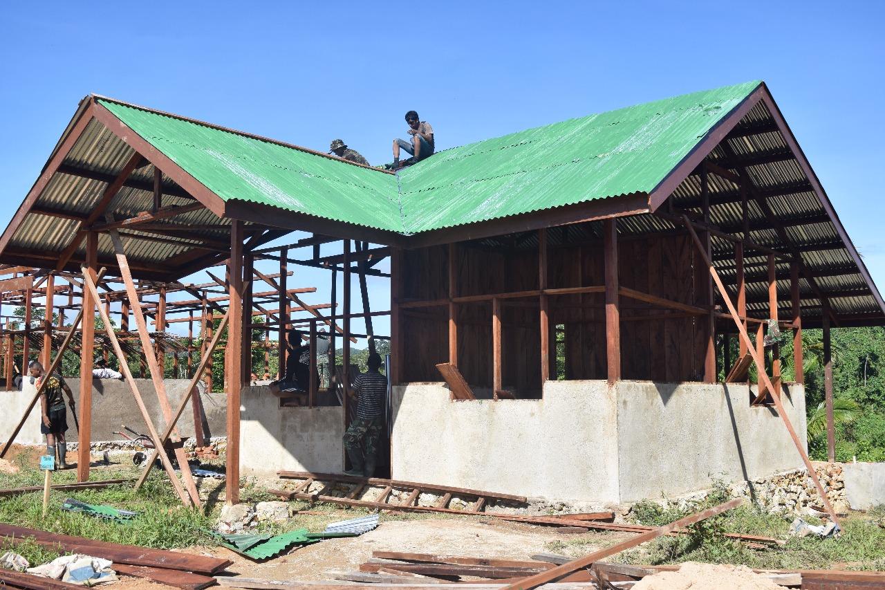 Tampak Pembangunan Rumah Warga yang tengah dibangun satgas TMMD