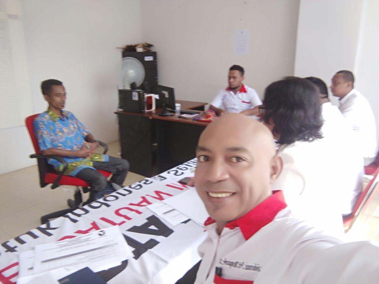 Pansel Bacaleg Partai Perindo Papua Barat melaksanakan tahapan wawancara kepada 30 Bacaleg DPR-PB Dapil 1, Sabtu (21/4/2018)