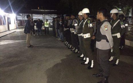 Apel Operasi Gabungan Aparat TNI-Polri dan Satpol PP di Manokwari, Jum'at (25/5/2018)
