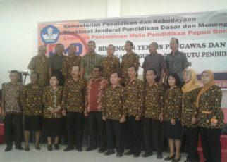 BIMTEK Pengawas dan Petugas Pengumpul Data Pendidikan Papua Barat, di Hotel Vega Sorong, (29/5/2018)