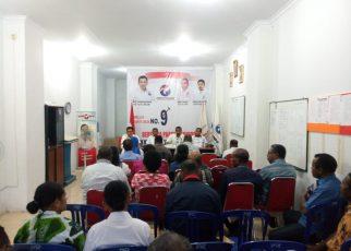 DPW Partai Perindo Papua Barat Menggelar Tatap Muka Dengan 45 Bacaleg Papua Barat, Sabtu (19/5/2018)