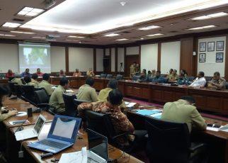 Tim Rekonsiliasi Penyelesaian Ibukota Maybrat Memaparkan Hasil Kerja Kepada Mendagri di Kantor Kemendagri, Jakarta, Senin (28/5/2018)