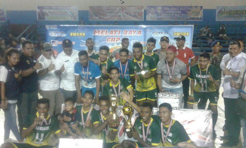 Tim Tentacle FC yang memenangkan Melati Raya CUP II Tahun 2018