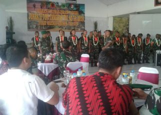 Acara Syukuran atas kemenangan Tim Raider 752 Sorong setelah mendapat juara II pada perlombaan Ton Tangkas 2018 di Bandung.