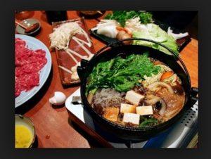Shabu-Shabu Makanan Jepang yang disediakan di Belagri Hotel