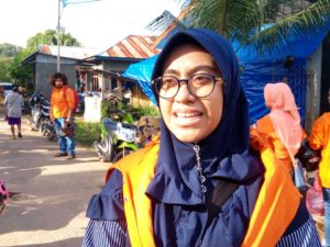 Kordinator Mahasiswa Fakultas Geologi Unipa-Sorong, Fahriah Sanusi Rahaningmas,S.T.,M.Eng