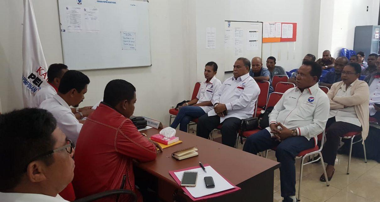 Pertemuan Internal DPW Partai Perindo Papua Barat Bersama Kandidat Caleg Yang Diusung di Sekretariat DPW Papua Barat, Manokwari, Sabtu (23/6/2018)