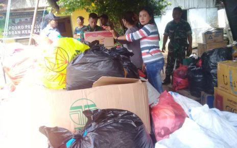 Posko Bantuan Kebakaran di Jl Bubara, Kelurahan Klaligi, Kota Sorong