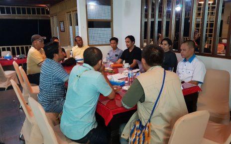Rapat Perdana Pengurus Karateker KADIN Papua Barat di Restoran Mansinam Beach, Sabtu (2/6/2018)