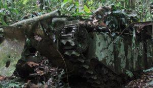 Tank perang tentara sekutu yang masih berada di distrik Bikar, Kabupaten Tambrauw