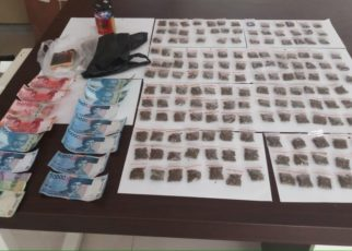 Barang Bukti Narkoba Jenis Ganja milik tersangka YY yang diamankan Tim Opsnal Ditresnarkoba Polda Papua Barat, Kamis (19/7/2018)