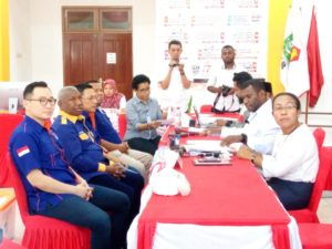 DPW Partai NasDem Mendaftarkan Bacaleg DPR Papua Barat di KPU Papua Barat, Selasa (17/7/2018)