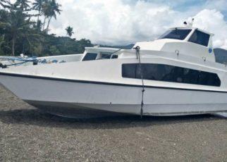 Speed Boat milik Dinas Kesehatan Tambarauw. / (foto: Trisnah)