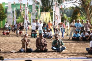 Prosesi adat pada Festival Geopark Raja Ampat
