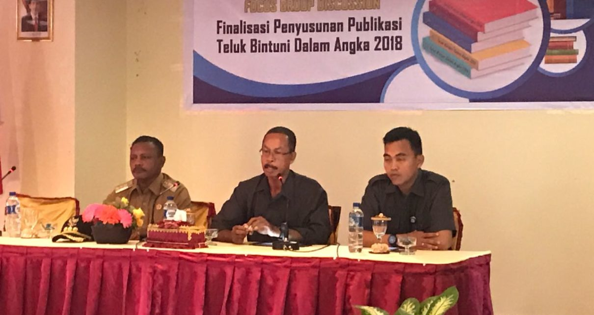 FGD, Finalisasi Penyusunan Publikasi Kabupaten Bintuni Dalam Angka 2018