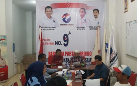 Pertemuan Finalisasi Penyusunan Komposisi Tim Kampanye Jokowi - Maaruf Provinsi Papua Barat di Sekretariat DPW Perindo Papua Barat, Sabtu (15/9/2018)