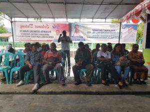 Diskusi Publik dan Penjaringan Aspirasi Masyarakat oleh Caleg Partai Perindo Papua Barat di Ransiki, Manokwari Selatan, Kamis (4/10/2018