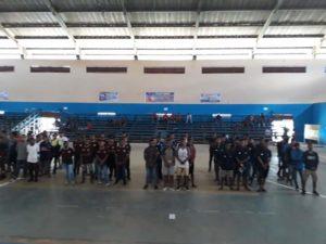 Enam tim futsal yang siap bertarung pada Liga Futsal Nusantara Regiaonal Papua Barat tahun 2018 di GOR Pancasila, Kota Sorong, Sabtu (6/10/2018)