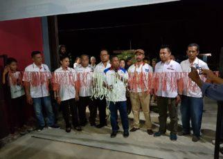 Ketua DPW Partai Perindo Papua Barat, Marinus Bonepay, S.Sos meresmikan sekretiat TOP 9 Kabupaten Teluk Wondama di Wasior, Sabtu (6/10/2018)