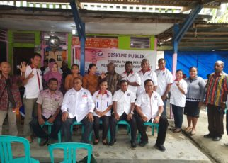 Para Caleg Partai Perindo bersama Masyarakat Ransiki, Kabupaten Manokwari Selatan