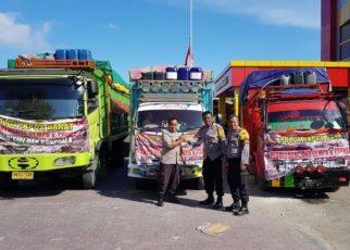 Sembako sumbangan dari Polda Papua Barat untuk korban kemanuasian di Palo, Donggala, Sigi dan sekitarnya.