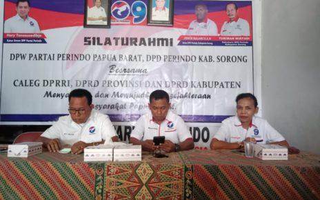 Silahturahmi DPW Partai Perindo Papua Barat bersama jajarannya di Kabupaten Sorong bersama para caleg di Kabupaten Sorong, Kamis (18/10/2018)