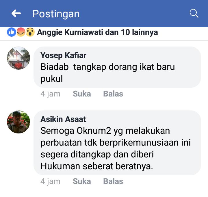 Tanggapan para pengguna Facebook terhadap aksi pemukulan anak