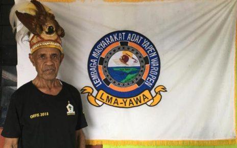Sawaki Fredi Selsius, Ketua Dewan Adat Yapen Waropen Kota Sorong.