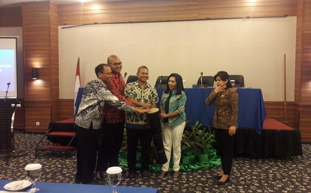 Kepala Sub Bagian Kerja Sama Teknik Pasifik dan Eropa Kementerian Sekretariat Negara Republik Indonesia, Joko Tulodo Gelar Pertemuan dengan Pemerintah Provinsi Papua di Jayapura, Sabtu (8/12/2018)