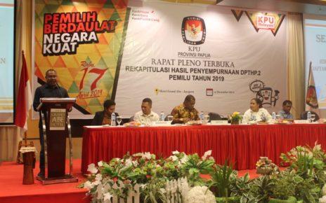 Pleno rekapitulasi hasil penyempurnaan DPTHP-2 Pemilu 2019