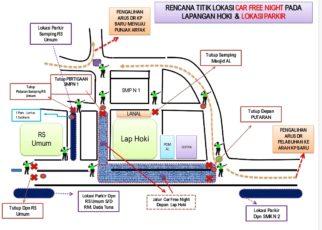 Skema Pengalihan Arus Lalulintas Saat Pegelaran Car Free Night / Foto : Istimewa