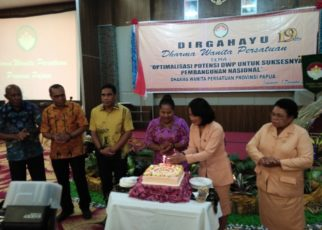 Suasana Perayaan HUT DWP ke-19 Tahun 2018 di hotel Horison Kota Jayapura, Jumat (7/12/2018)