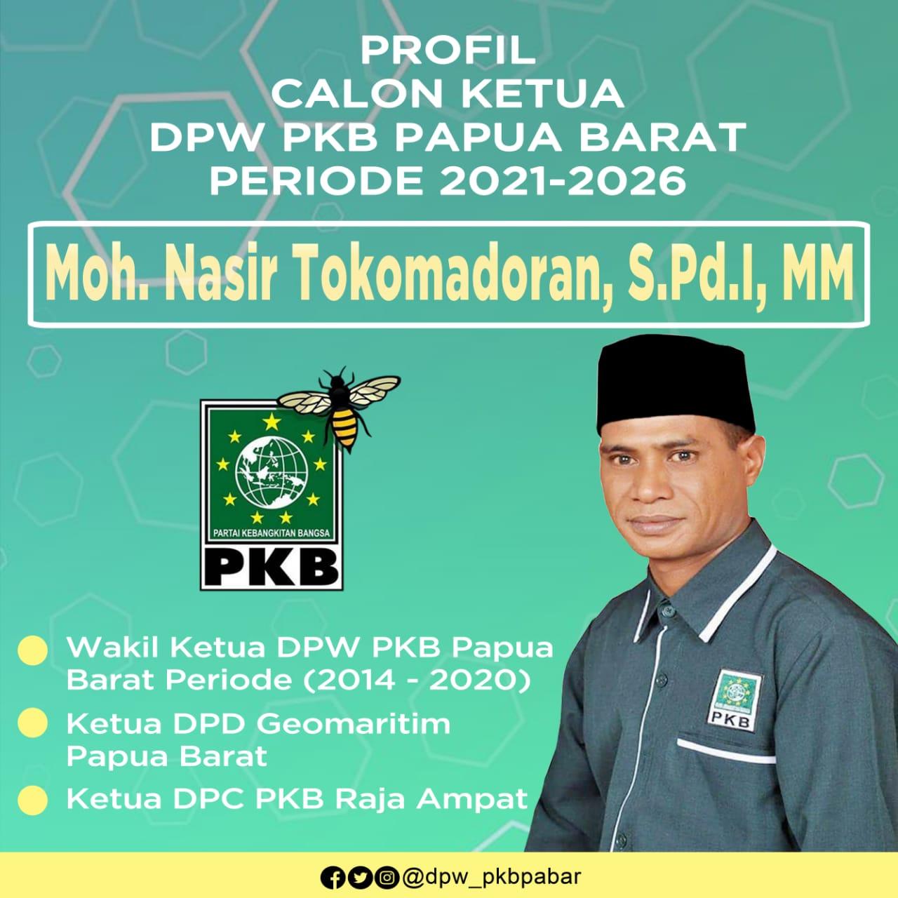 Muhammad Nasir Tokomadoran, Bakal Calon ketua PKB Papua Barat, periode 2021-2026